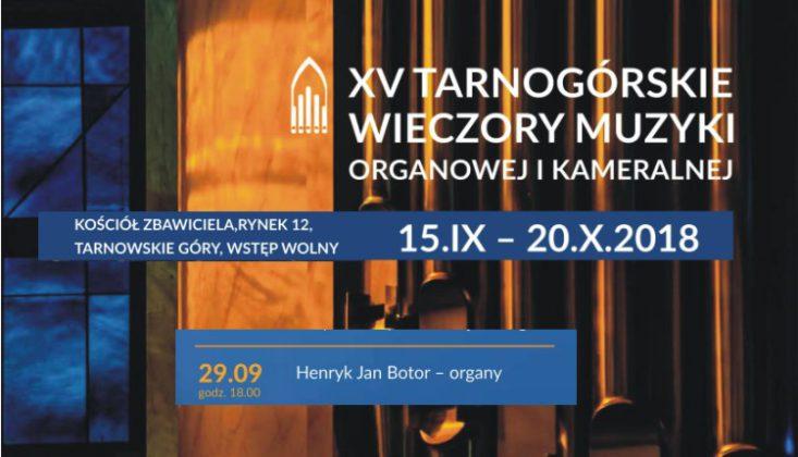 XV Tarnogórskie Wieczory Muzyki Organowej i Kameralnej - infografika