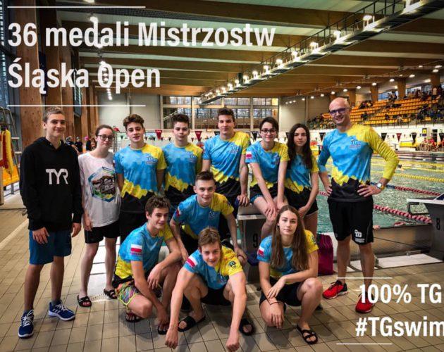 Zdjęcie wyróżnione wpisu - 36 medali Mistrzostw Śląska Open dla pływaków z Tarnowskich Gór!