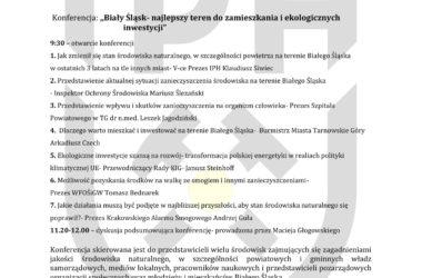 Plan Konferencji Biały Śląsk.