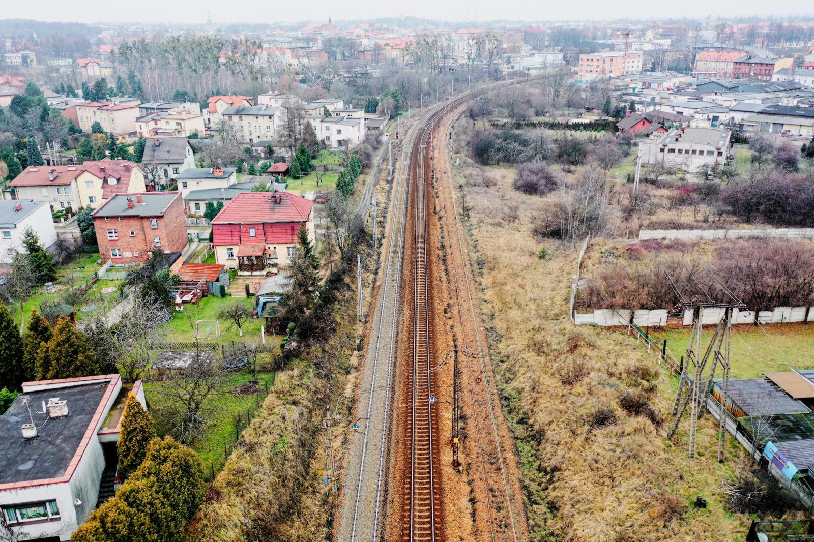 Zdjęcie torów kolejowych