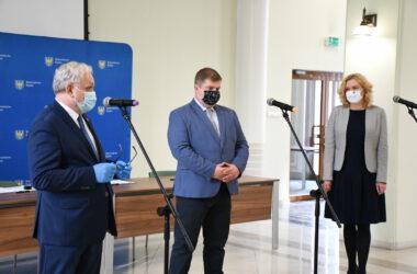 Burmistrz Arkadiusz Czech i przedstawiciele Województwa Śląskiego
