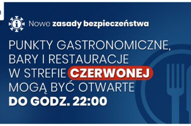 Nowe zasady bezpieczeństwa: bary i restauracje otwarte do 22:00