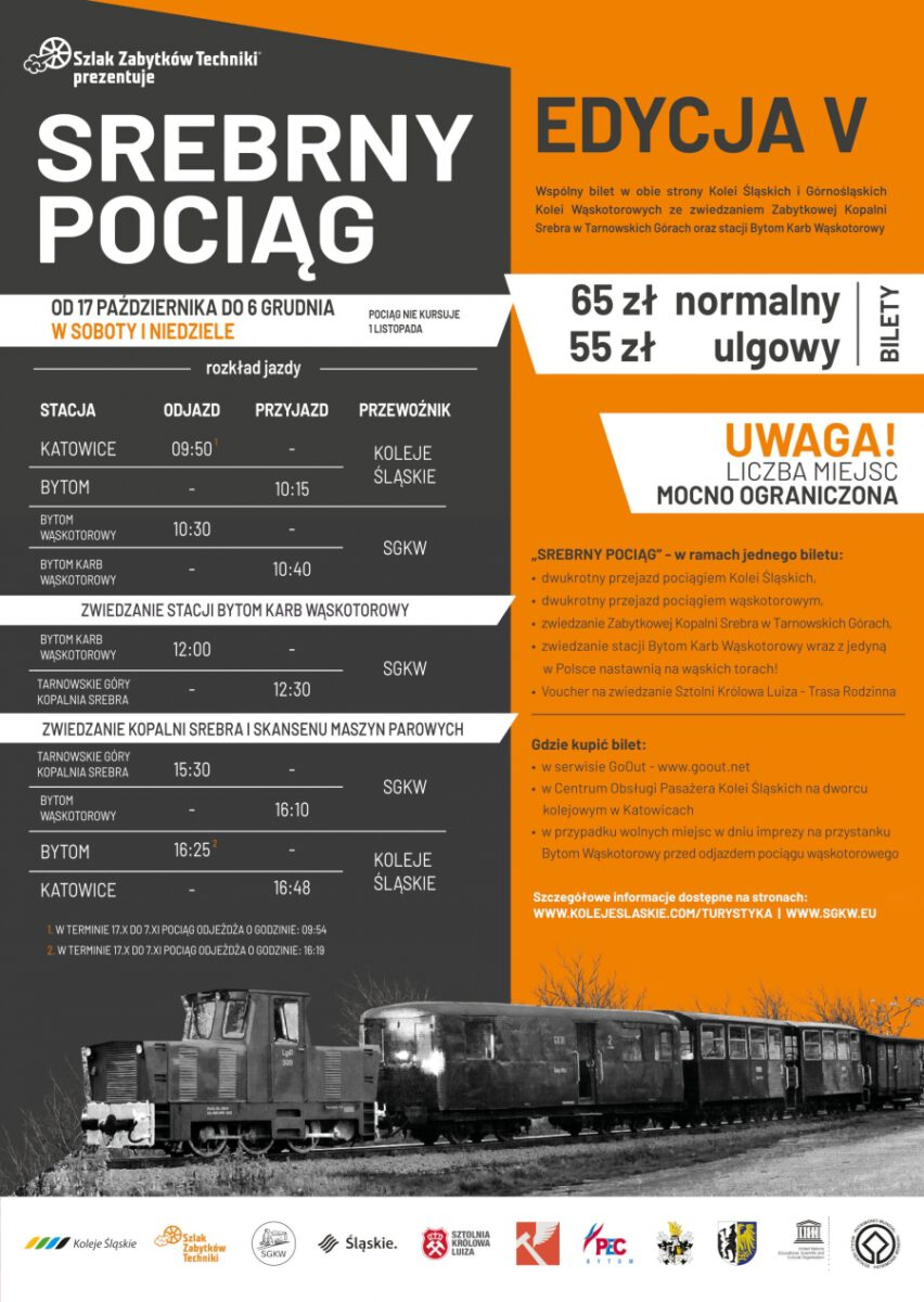 Srebrny pociąg, edycja piąta - rozkład jazdy