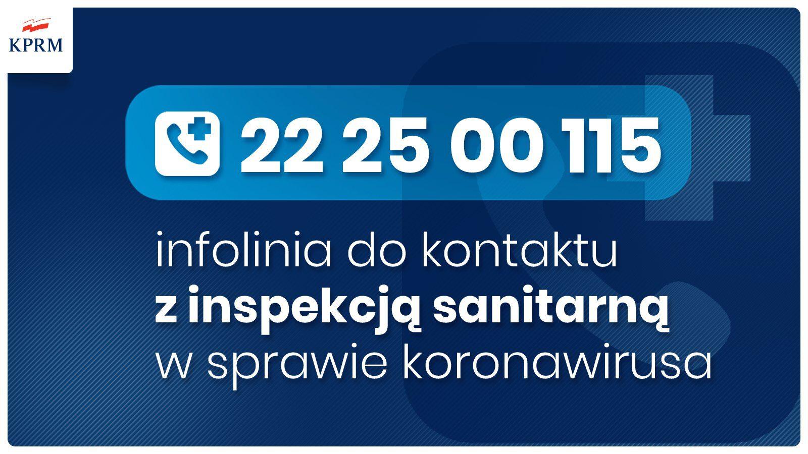 COVID-19 Numer telefonu infolinii: 22 2500115
