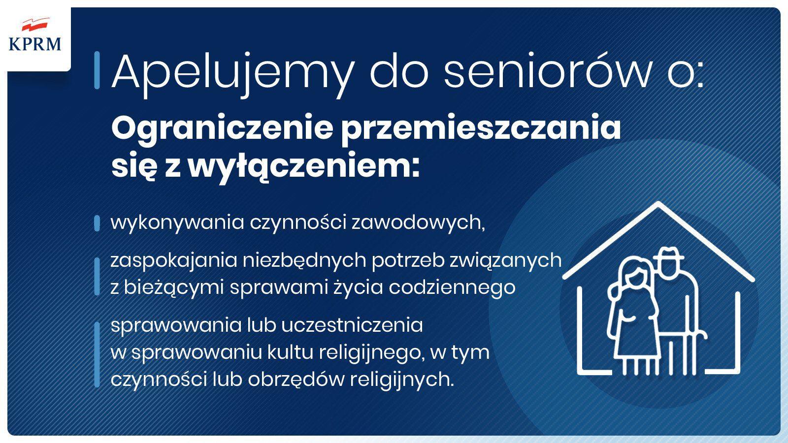Apel KPRM do seniorów w związku z COVID-19
