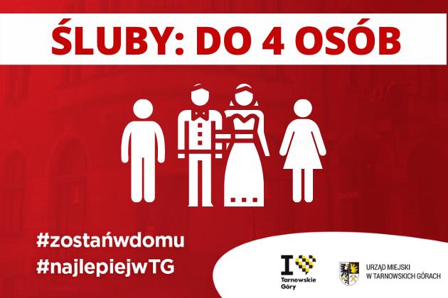 Covid 19   Śluby: udział w uroczystości: do 4 osób