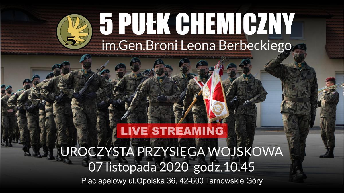 5 Pułk Chemiczny - uroczysta przysięga wojskowa - plansza informacyjna