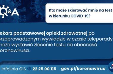 Grafiki informacyjne KPRM dotyczące koronawirusa
