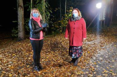 Cykl Just Do IT - z udziałem dzieci z Tarnowskich Gór. Nagrania w lesie nocą