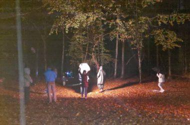 Cykl Just Do IT - z udziałem dzieci z Tarnowskich Gór. Nagrania w nocy w lesie