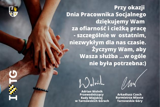 Życzenia z okazji Dnia Pracownika Socjalnego od władz miasta Tarnowskie Góry