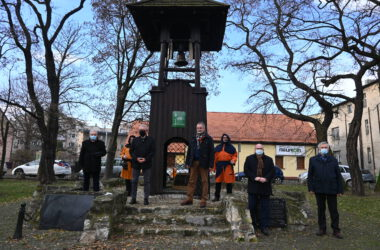 Nowy dzwon na tarnogórskiej Dzwonnicy Gwarków - Władze miasta i przedstawiciele SMZT