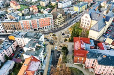 Okolice ulicy Powstańców - z lotu ptaka