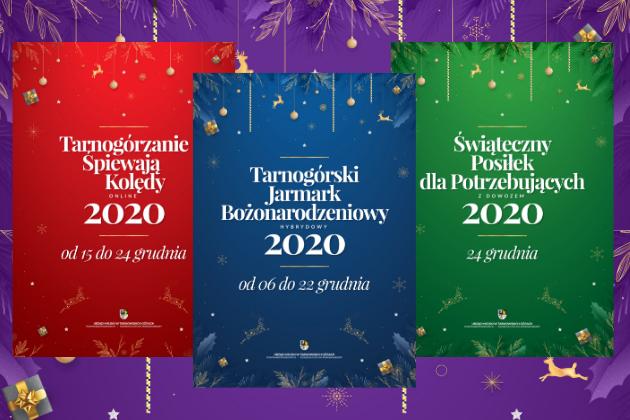 Plakat imprez około bożonarodzeniowych w Tarnowskich Górach