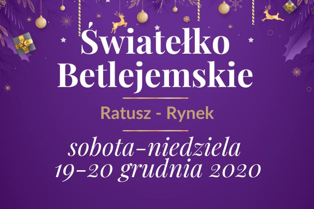 Światełko Betlejemskie, Ratusz Rynek 19 - 20 grudnia 2020 - infografika