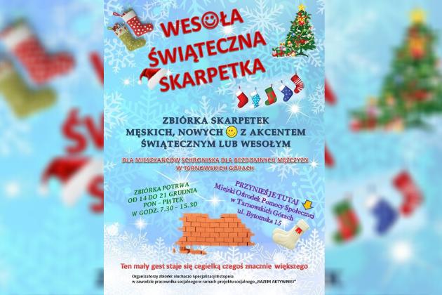 Wesoła Świąteczna Skarpetka - zbiórka - infografika