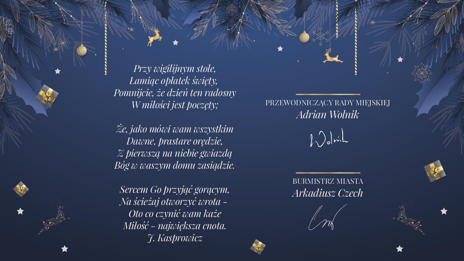 Życzenia świąteczne od władz miasta