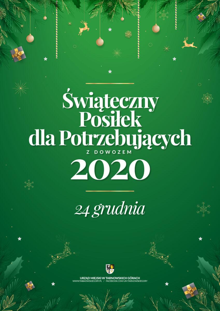 Świąteczny poczęstunek dla potrzebujących w tym roku z dowozem. 24 grudnia 2020
