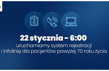 System rejestracji pacjentów 70 plus - infografika