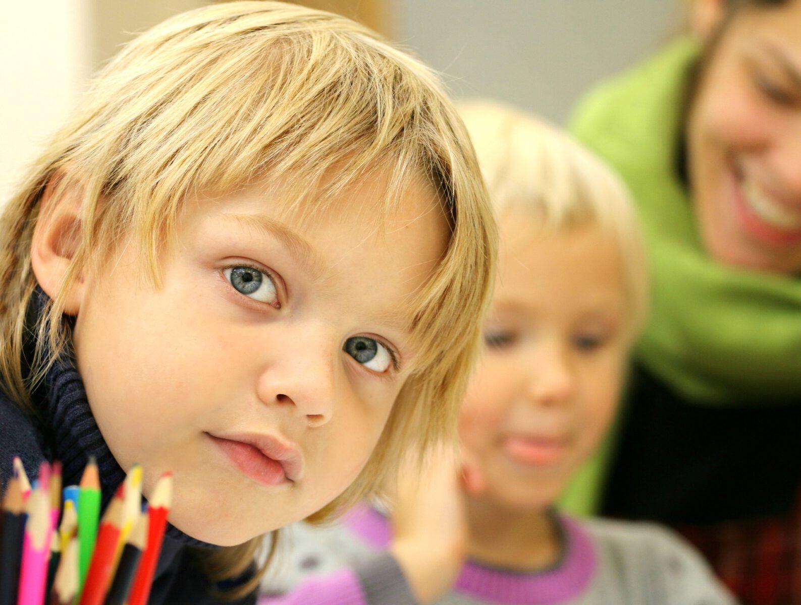Zdjęcie twarzy dziecka
