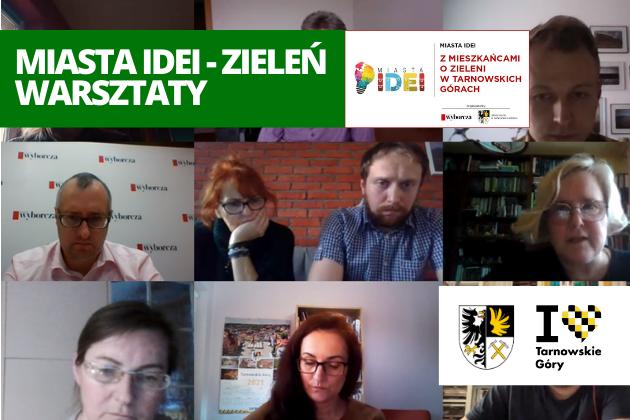 Uczestnicy spotkania online w ramach Miasta Idei