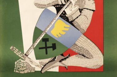 Plakat Tarnogórskich Gwarków z roku 1961