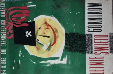 Plakat Tarnogórskich Gwarków z roku 1962