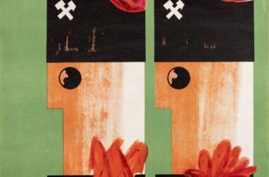 Plakat Tarnogórskich Gwarków z roku 1963