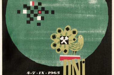 Plakat Tarnogórskich Gwarków z roku 1965