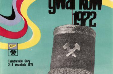 Plakat Tarnogórskich Gwarków z roku 1972