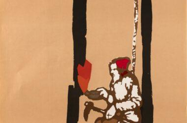 Plakat Tarnogórskich Gwarków z roku 1974