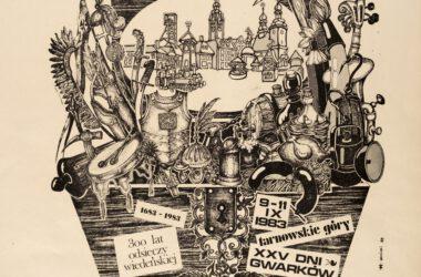 Plakat Tarnogórskich Gwarków z roku 1983
