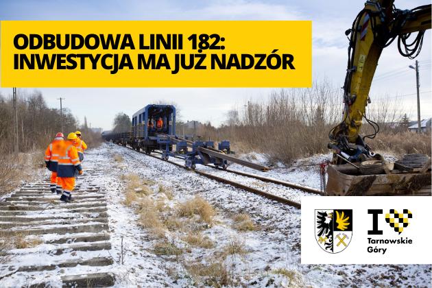Odbudowa linii kolejowej 182 - infografika