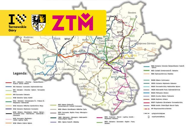 Mapa trasy kolejowej ZTM
