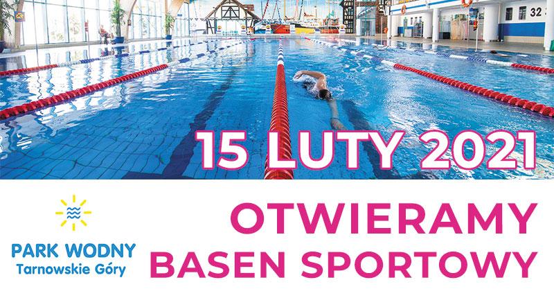 15 lutego otwieramy basen sportowy - infografika