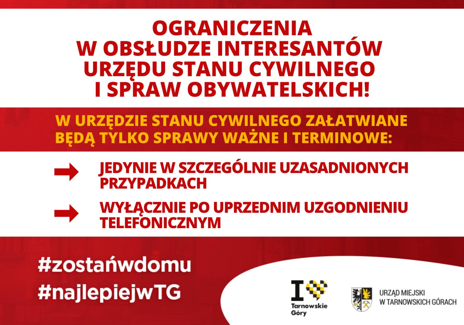 ograniczenia w bezpośredniej obsłudze interesantów Urzędu Stanu Cywilnego i Spraw Obywatelskich, (2)