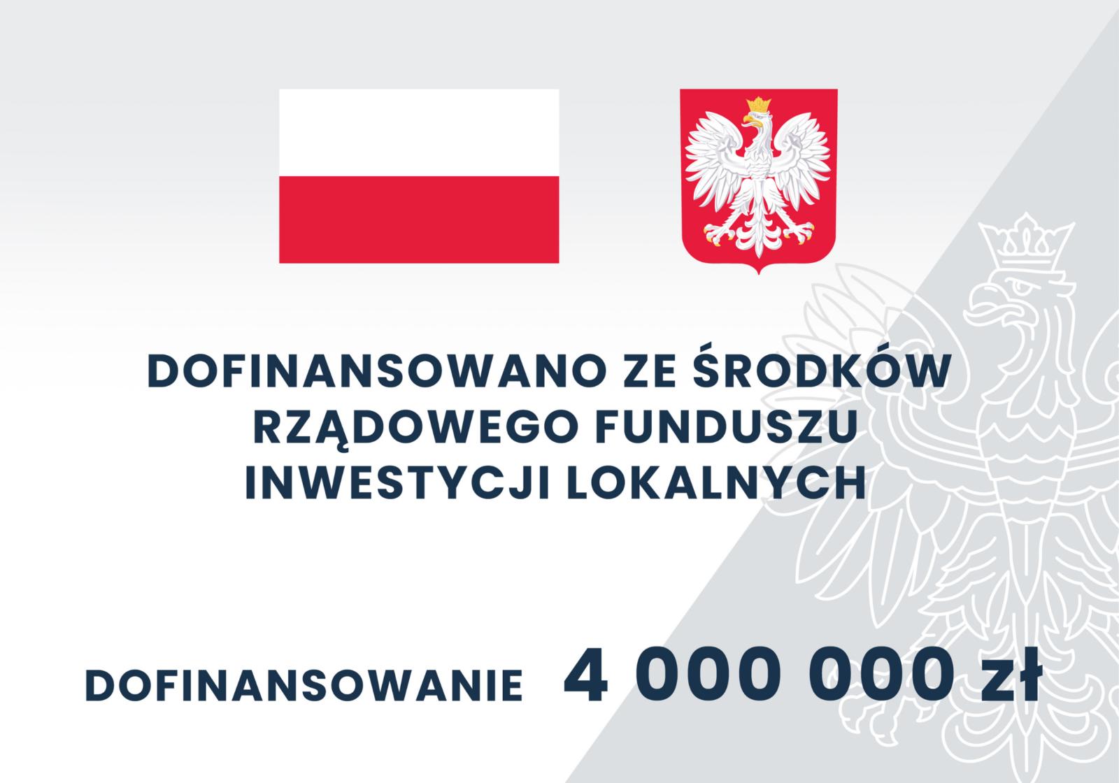 Dofinansowano ze środków rządowego funduszu inwestycji lokalnych - infografika