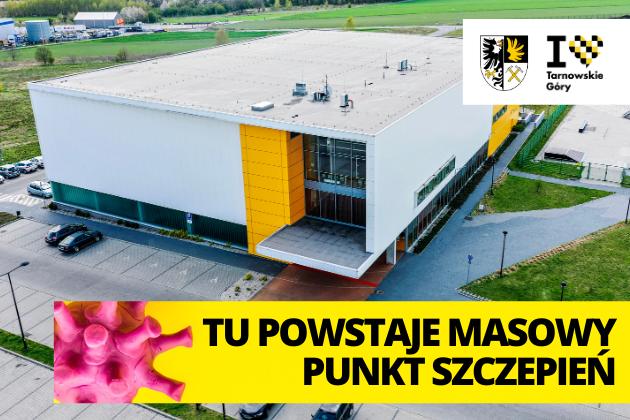 Biało żółty budynek Hali Sportowej