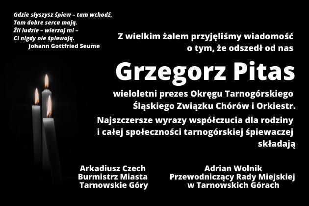 Odszedł Grzegorz Pitas - kondolencje