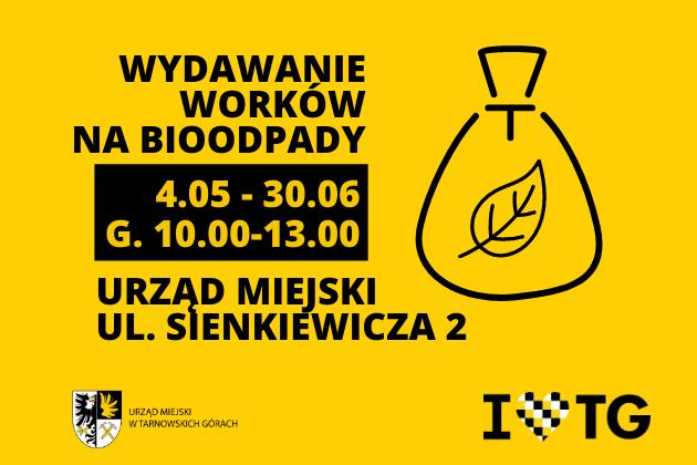 Wydawanie worków na bioodpady - infografika