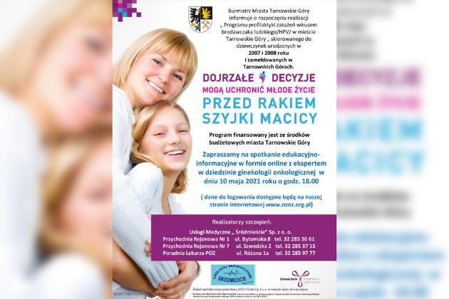 Program profilaktyki zakażeń wirusem HPV - infogrfika