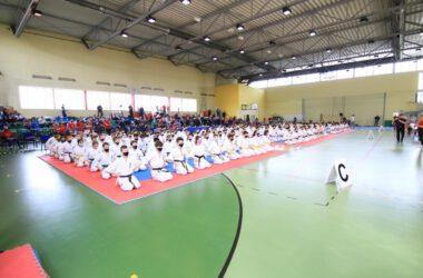 Tarnogórscy karatecy w czasie turnieju