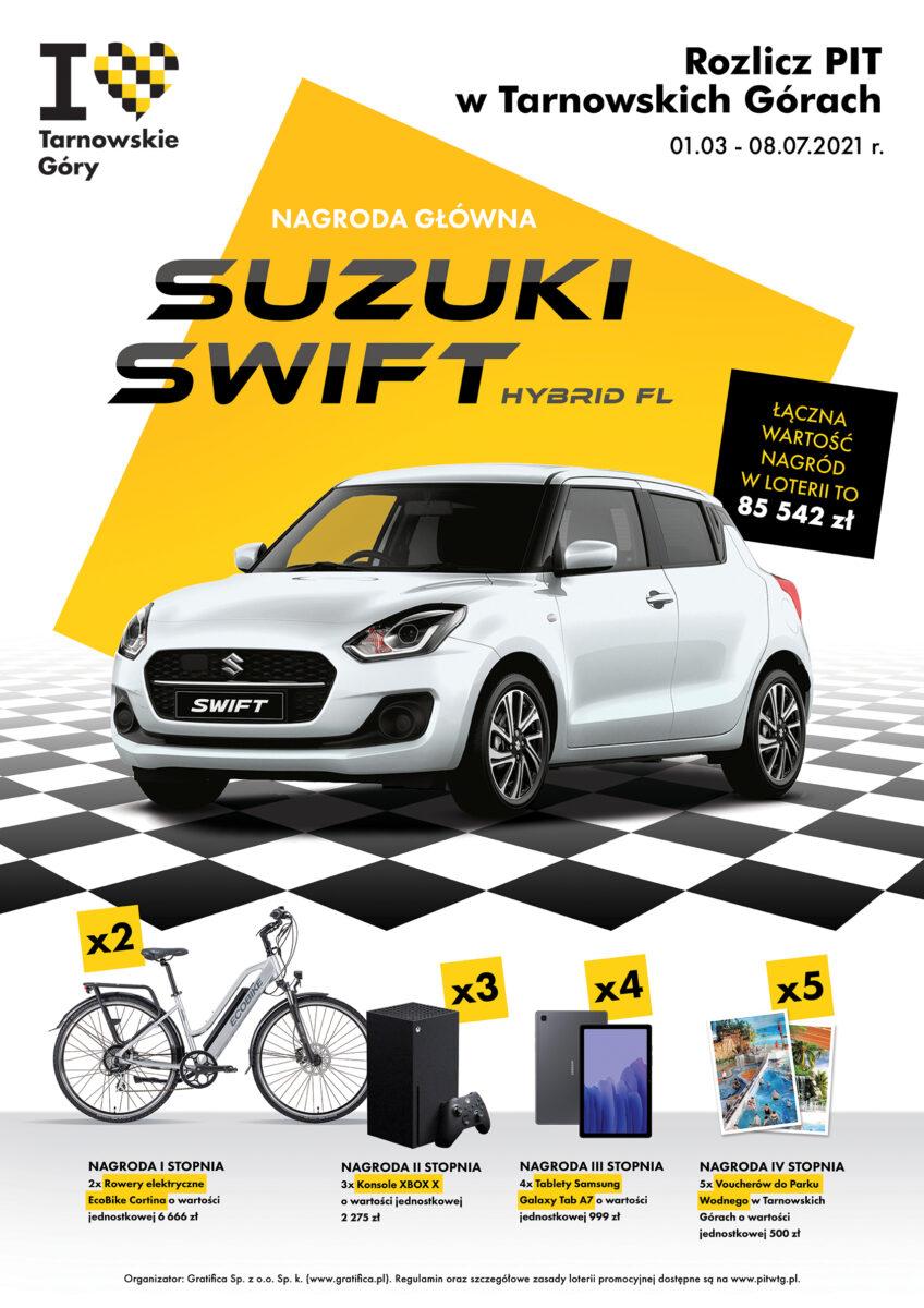 Finał miejskiej loterii Rozlicz PIT w TG - plakat akcji