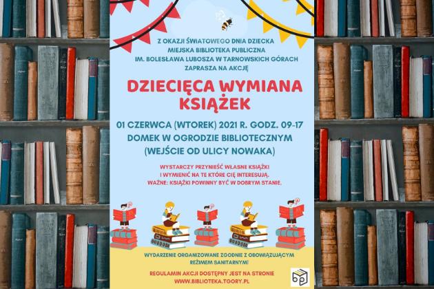 Dziecięca wymiana książek - infografika