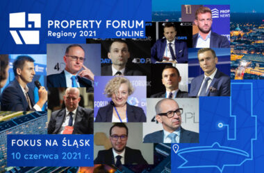 Property Forum Online Regiony 2021 z udziałem burmistrza Tarnowskich Gór - infografika
