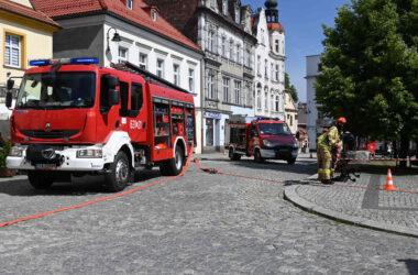 Ćwiczenia przeciwpożarowe w Muzeum