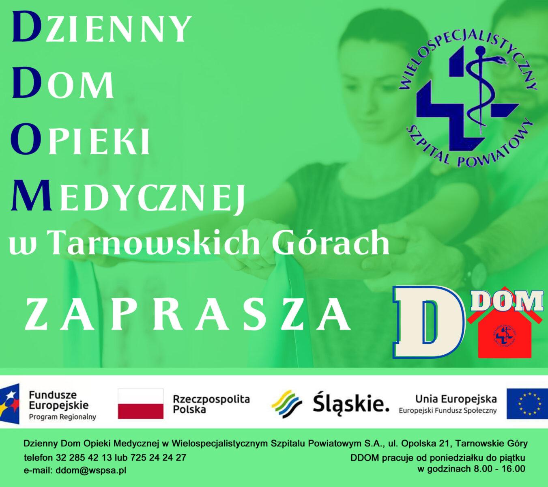 Infografika - Dzienny Dom Opieki Medycznej w Tarnowskich Górach
