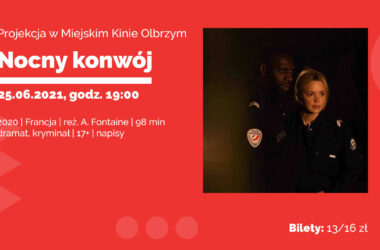 infografika - policjantka i policjant w ciemnych mundurach i na czarnym tle