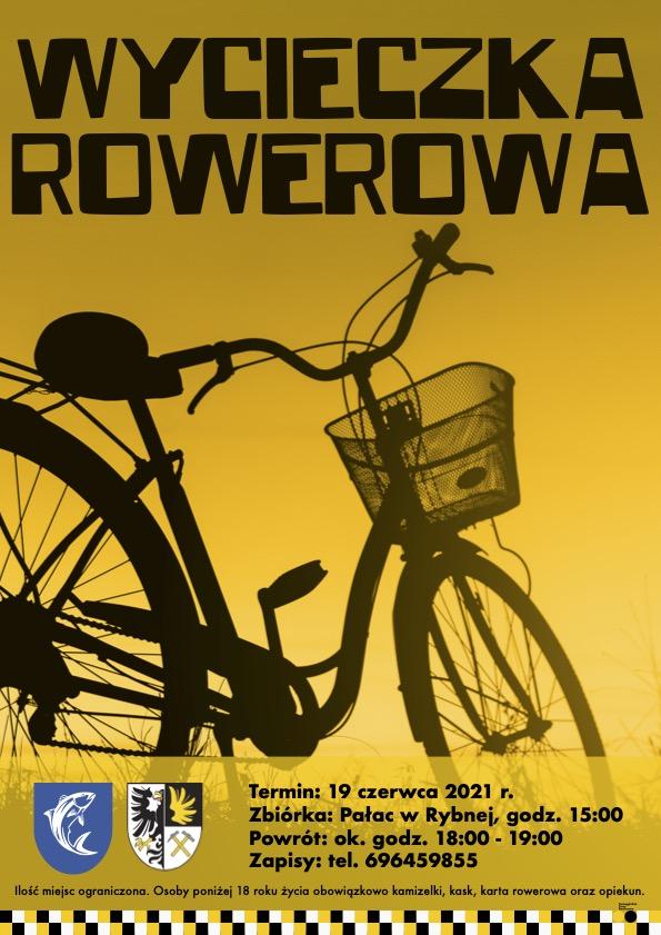 infografika z rowerem na żółtym tle