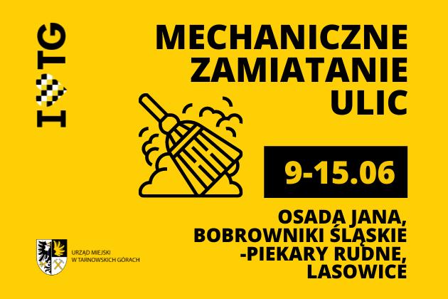 Mechaniczne zamiatanie ulic - infografika